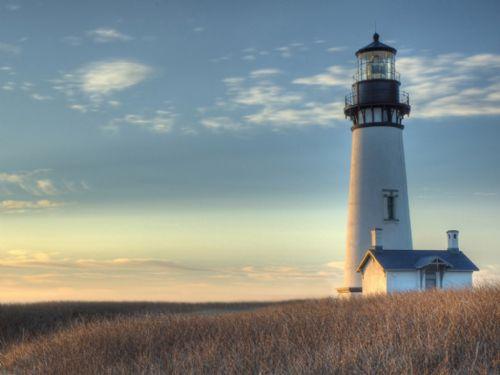 [摄影]黄昏的灯塔图片
